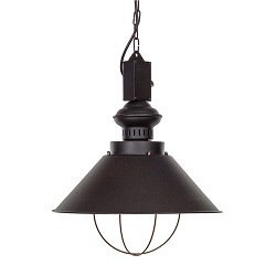 Bruine landelijke hanglamp 'Loft choco'