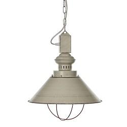 Landelijke hanglamp ecru/creme