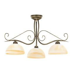 Klassieke ronde plafondlamp met glas