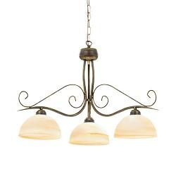 Klassieke hanglamp rond brons met glas