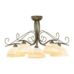 *Klassieke plafondlamp rond met glas