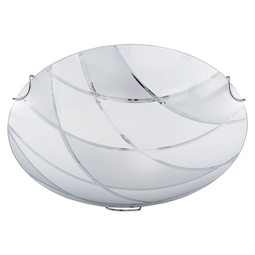 Mooie plafondlamp rond glas slaapkamer