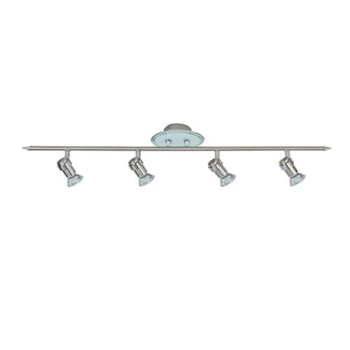 Badkamerlamp spot rail  chroom/nikkel