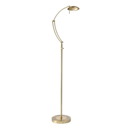 Leeslamp staand LED dimbaar mat messing