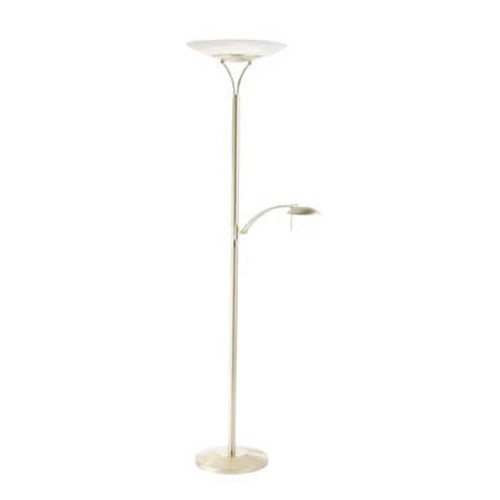 *Vloerlamp/uplighter LED messing dimb