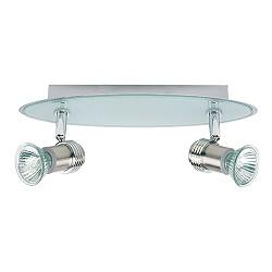 Plafondlamp badkamer spot chroom, glas