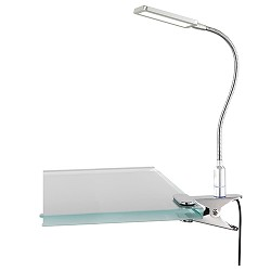 Klemlamp leeslamp LED staal touch