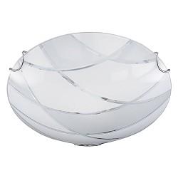 Mooie plafondlamp glas rond slaapkamer