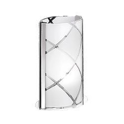 Tafellamp chroom met mat glas