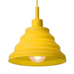 *Knalgele siliconen hanglamp opvouwbaar