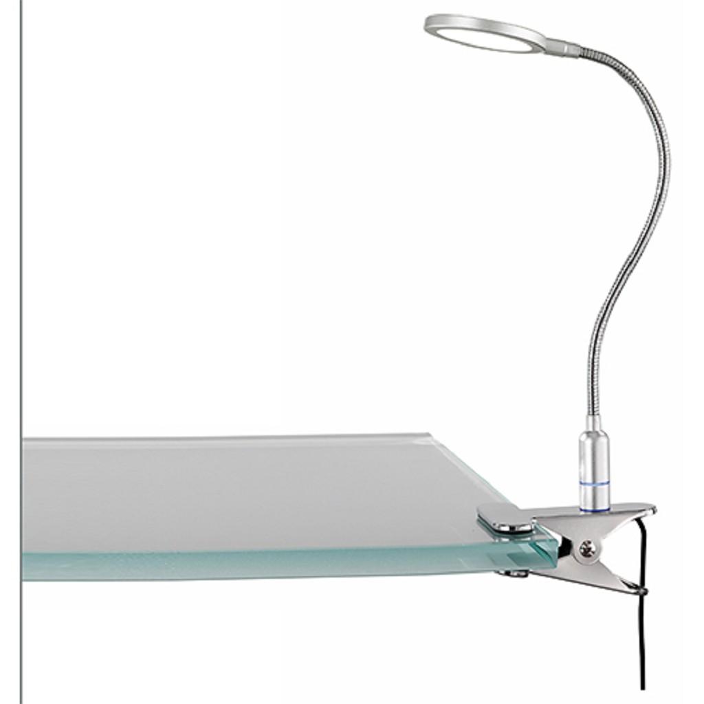 Klemlamp/bureaulamp LED staal slaapka