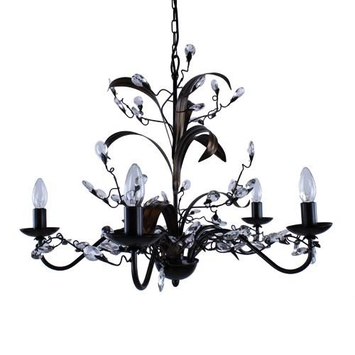 kroon hanglamp zwart bruin woonkamer straluma