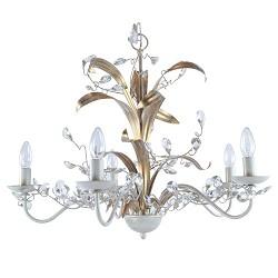 *Kroon hanglamp creme/goud woonkamer