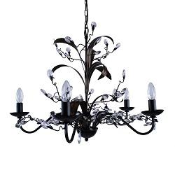 *Kroon hanglamp zwart/bruin woonkamer