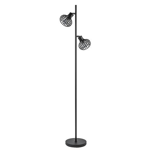 Scandinavische 2-lichts vloerlamp met draadkapjes