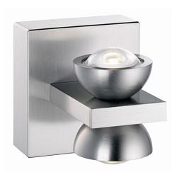 *Design wandlamp LED nikkel hal-keuken