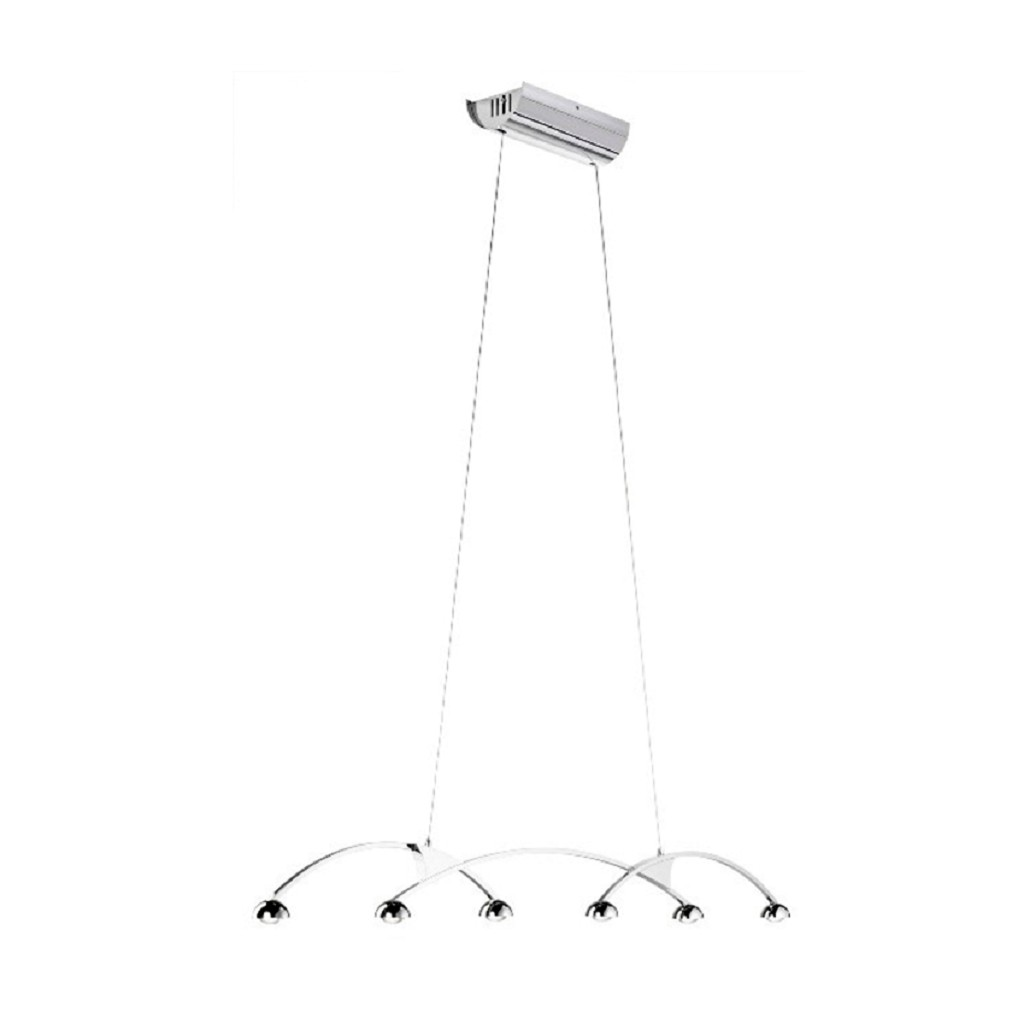 Hanglamp chroom design 6 lichts LED