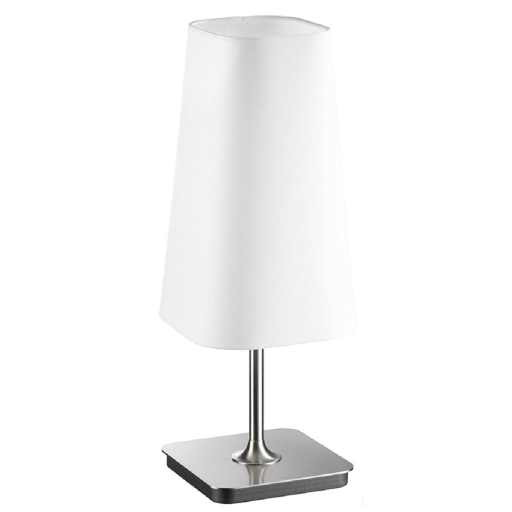 *Tafellamp Design staal kap wit dimbaar