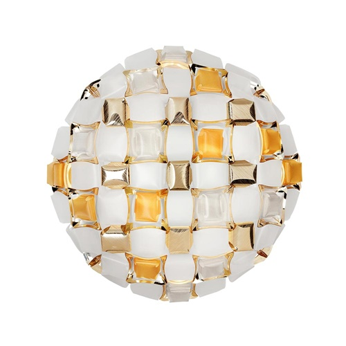 Italiaanse design wand/plafondlamp Mida amber