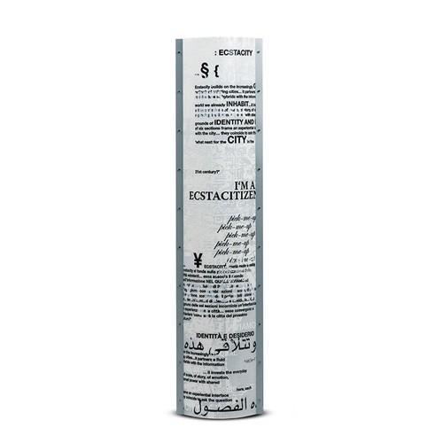 Design vloerlamp kunststof met tekst