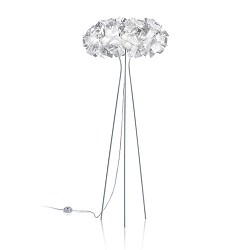 Moderne design vloerlamp smoke/wit