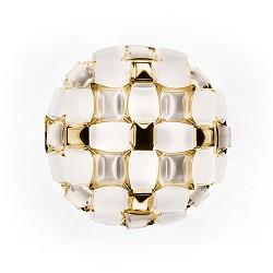 Plafondlamp Mida 50cm wit/goud