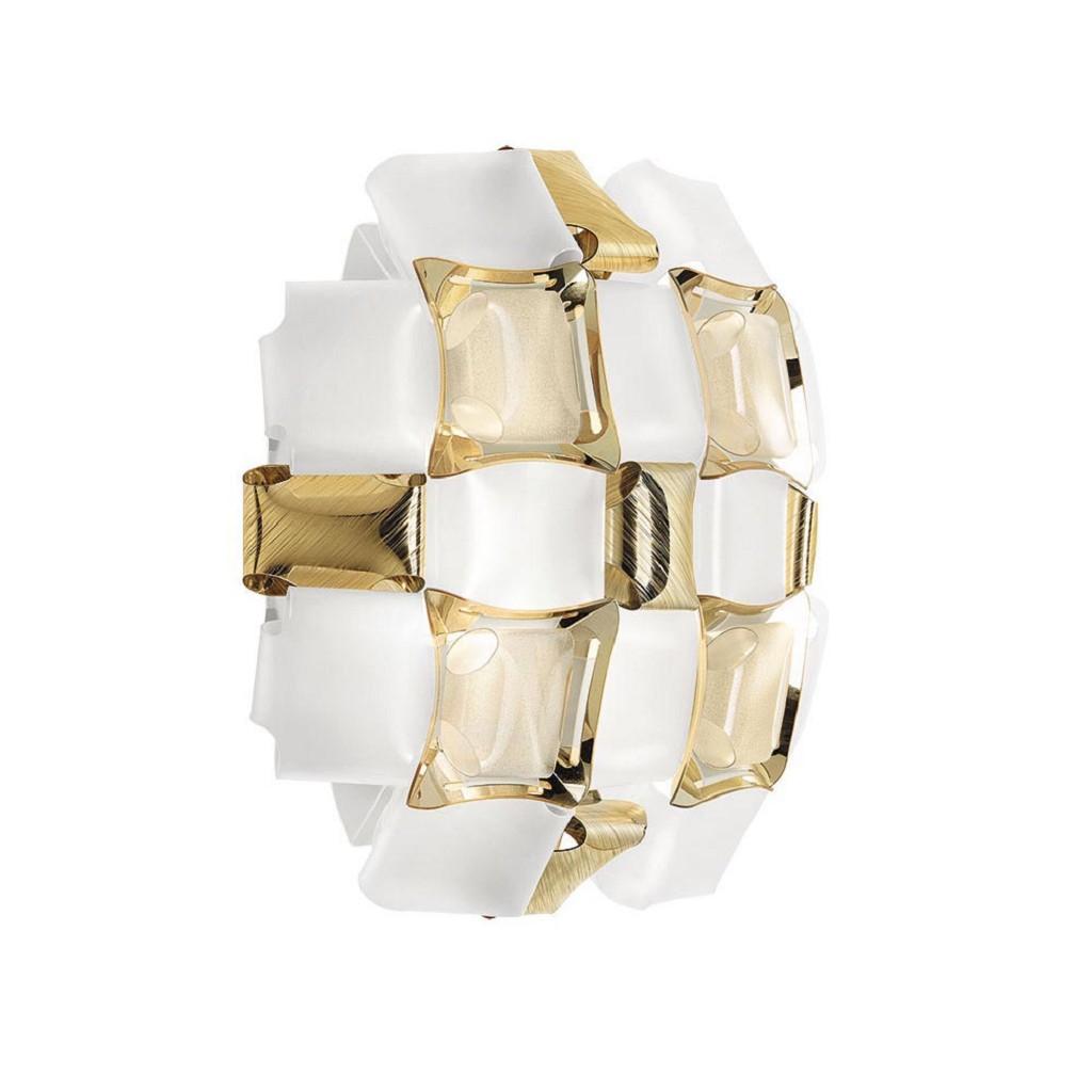 Plafondlamp Mida gold 32cm