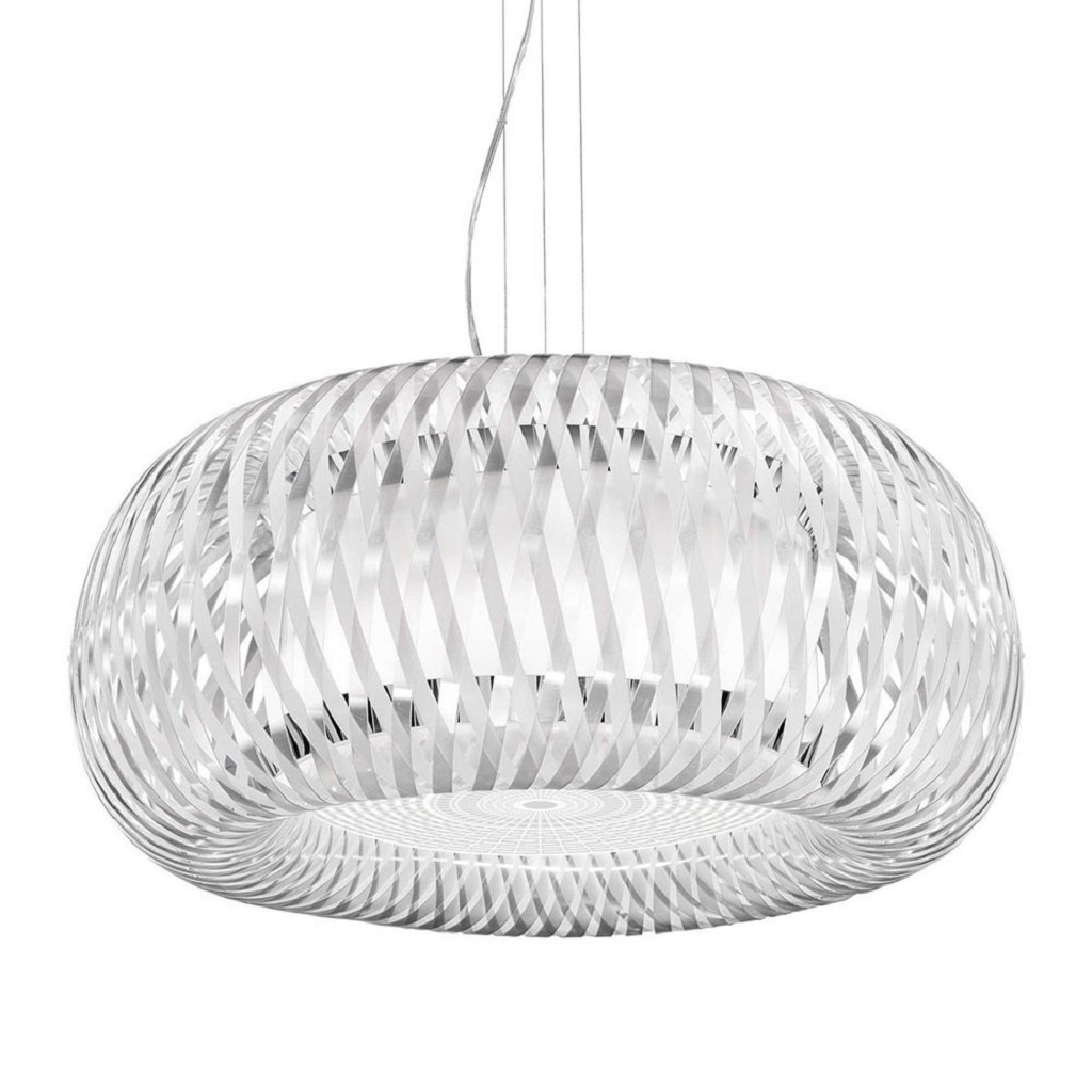 Grote design hanglamp Kalatos wit