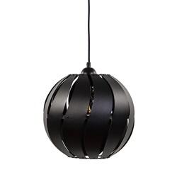 Ronde hanglamp zwart metaal