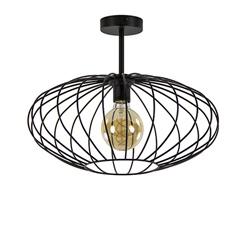 Plafondlamp draad open zwart 42.5cm