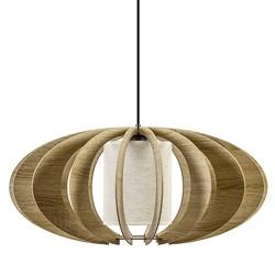Sfeervolle houten eettafelhanglamp groot