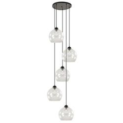 Moderne vide hanglamp met helder glas