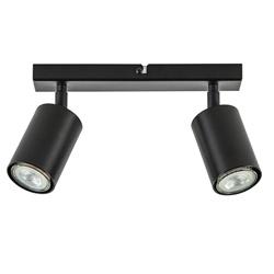 2-Lichts opbouwspot GU10 mat zwart