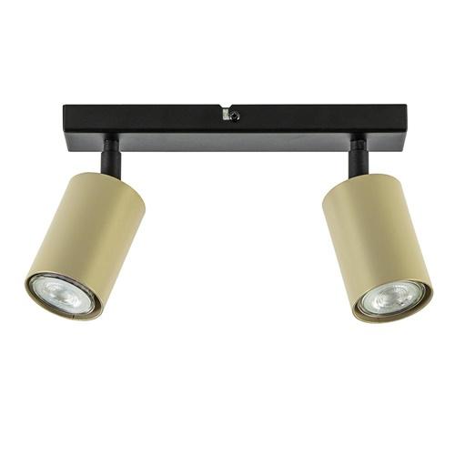 Verstelbare plafondspot GU10 zwart met goud