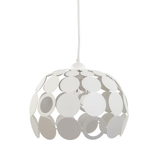 *Witte hanglamp rond van metaal