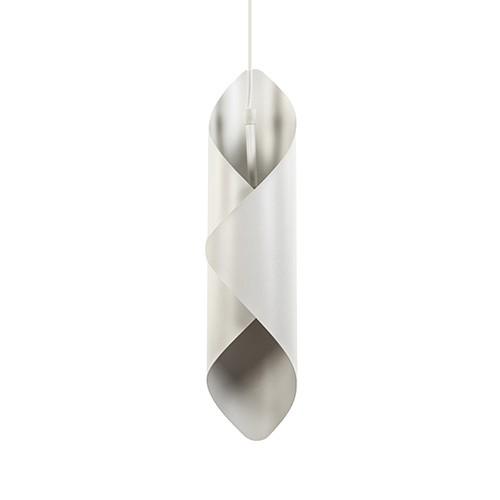 Witte hanglamp gevouwen metaal