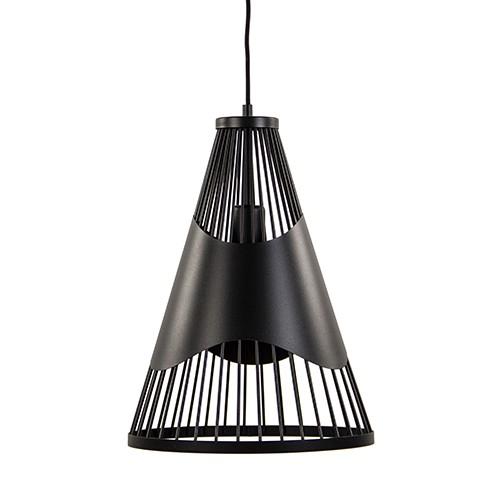 *Zwart metalen hanglamp draad groot