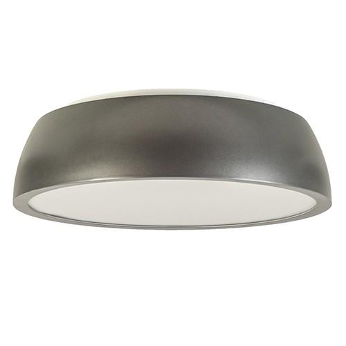Grote ronde plafonnière grijs