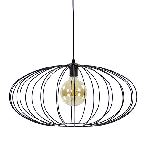 *Zwarte draadlamp-hanglamp 60 cm