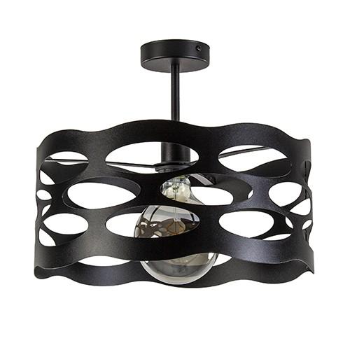 Zwart metalen plafondlamp modern 39 cm