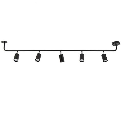 Rail zwart 5-lichts 160cm gu10