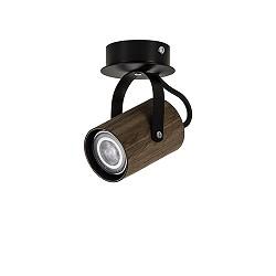Spot wenge hout/zwart gu10