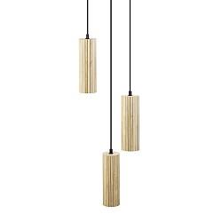 Moderne houten hanglamp 3-lichts