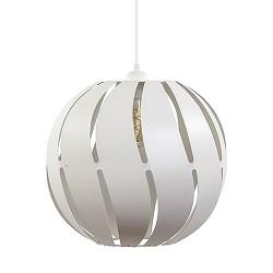 *Witte hanglamp grote bol metaal