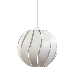 *Moderne hanglamp rond wit