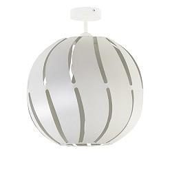 *Grote ronde plafondlamp wit metaal