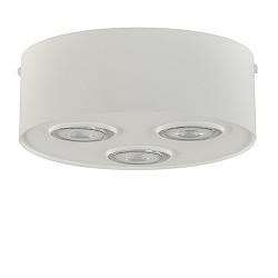 Metalen 3-lichts plafondlamp/spot wit