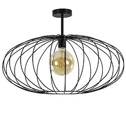 Grote draad plafondlamp zwart 60cm