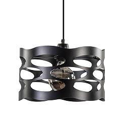 Scandinavische hanglamp zwart metaal
