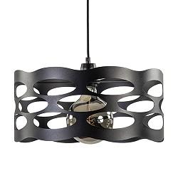 Zwarte hanglamp opengewerkt metaal